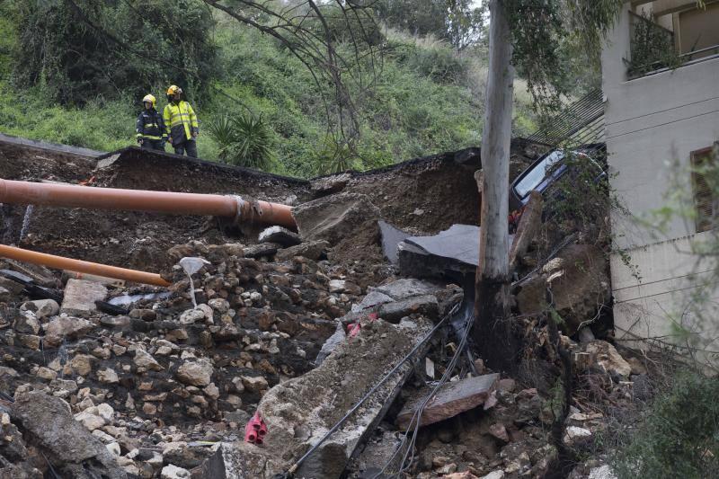 Storm damage in Malaga