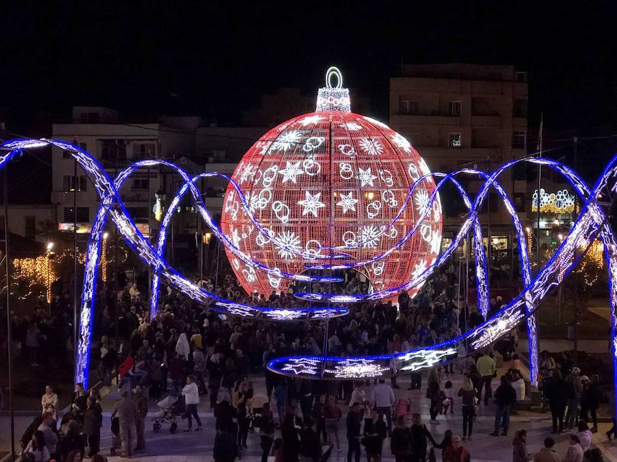 Christmas lights 2017 in Fuengirola
