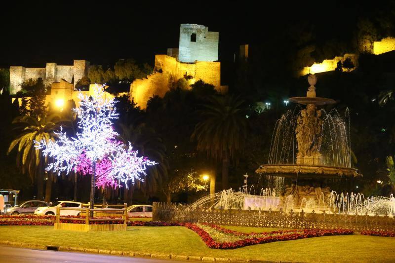 Christmas lights in Malaga