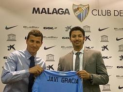 Javi Gracia unveiled as Malaga manager