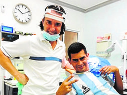 The World Cup final that took place in a dental surgery