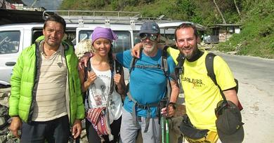 Father and son from Malaga stuck in Nepal