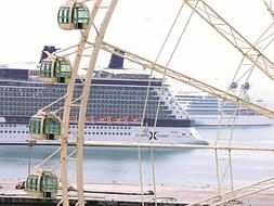 Seven cruise ships dock on busiest day at Malaga port