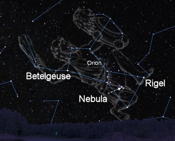how to find orion the hunter