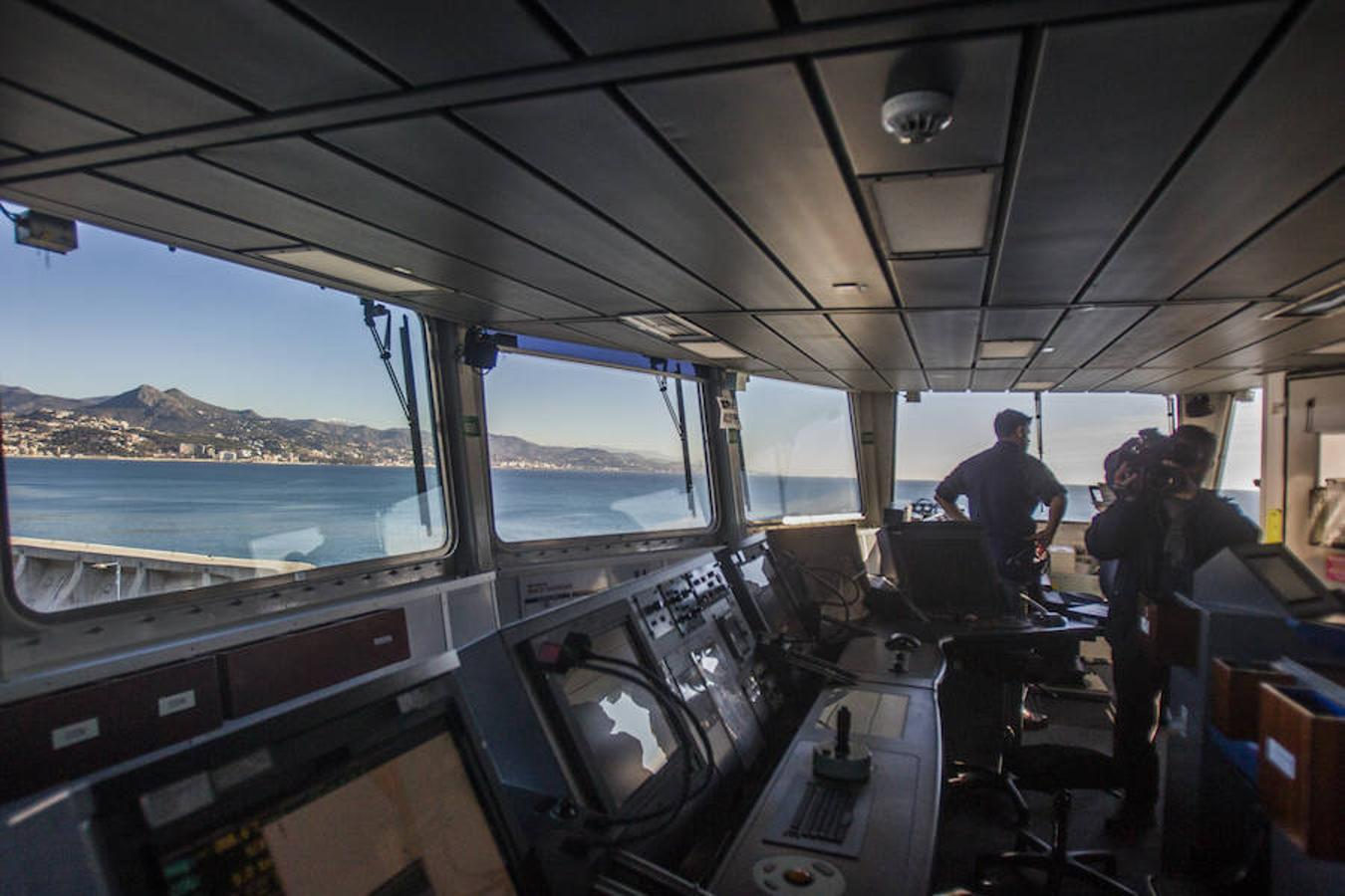 Inside Royal Navy ship HMS Duncan, in Malaga this week
