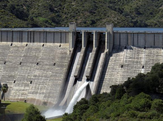costa dam opened for third time after rain